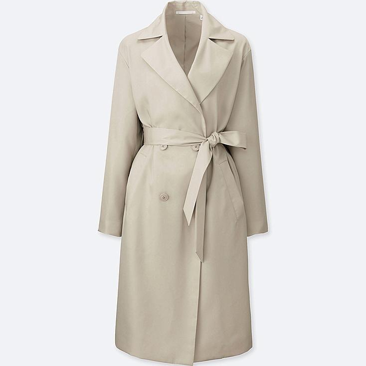 WOMEN Easy Care Drape Trench Coat
