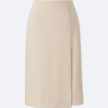 Jupe Taille-Haute Drapée Entretien Facile FEMME