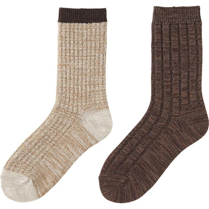 Uniqlo Heattech Socks Women Heattech Socks 2p Rib