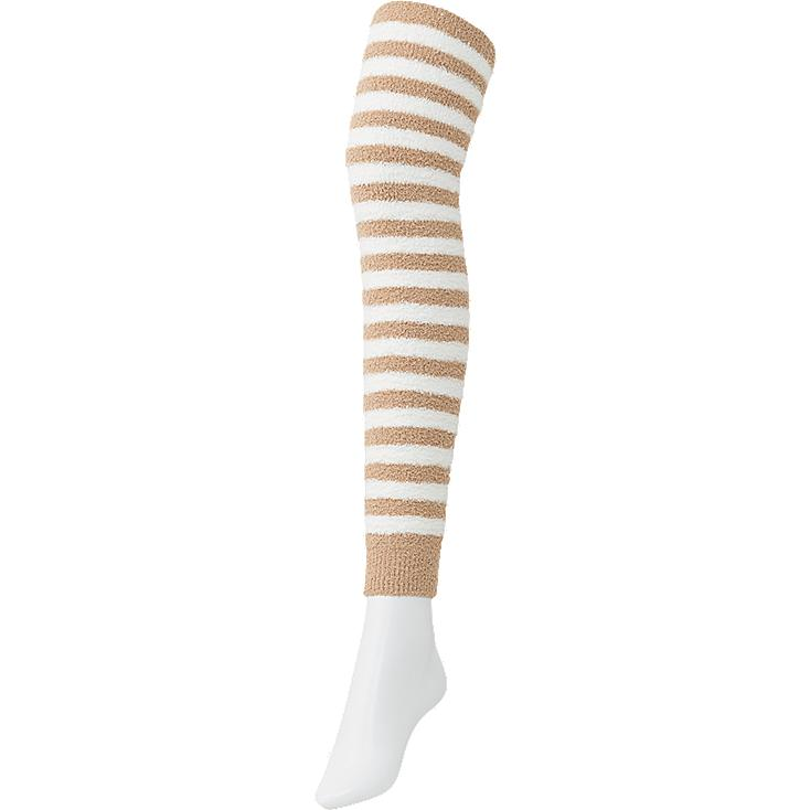 WOMEN FLUFFY LEGGINGS (STRIPE)