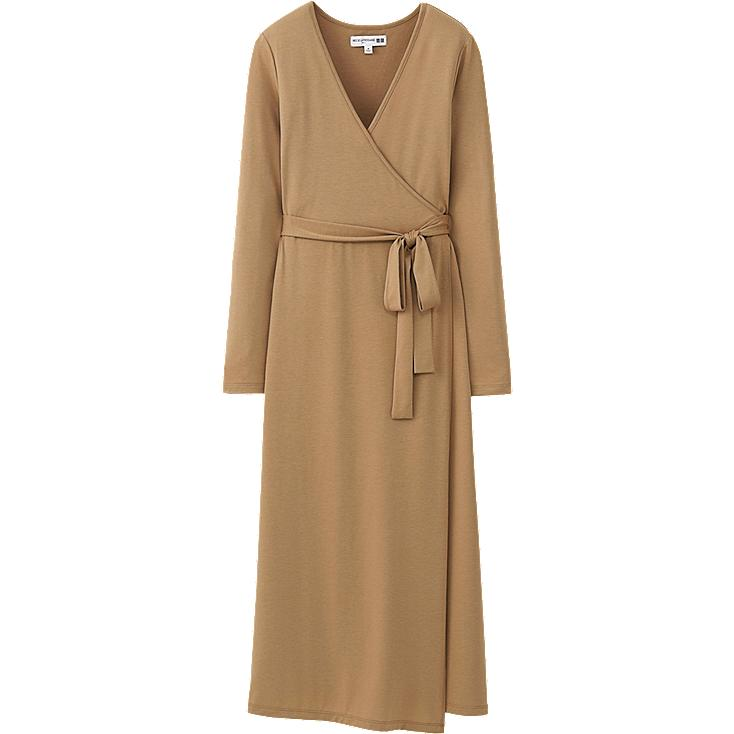 WOMEN IDLF JERSEY WRAP DRESS