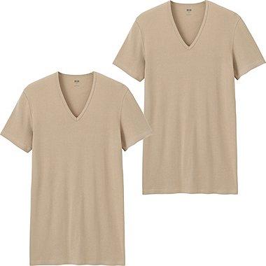 T-Shirt Coton Supima Col V Manches CourtesLot de 2 HOMME