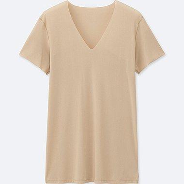 HERREN AIRism T-Shirt Nahtlos V-Ausschnitt