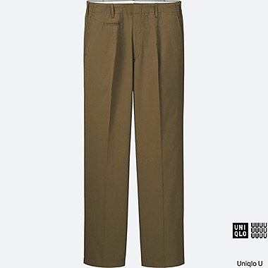 MEN Uniqlo U Oversized Seersucker Wide Trousers