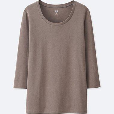 DAMEN Supima Cotton T-Shirt 3/4 Arm Rundhals