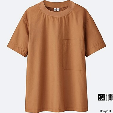 Chemise sans col manches longues U FEMME