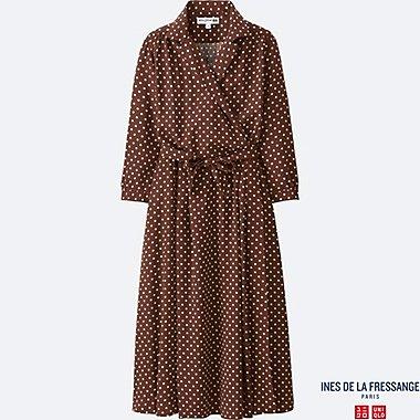 INES Robe Porte-feuille Toucher Soie Easy Care FEMME
