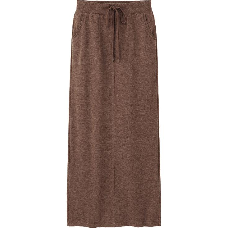 WOMEN LIGHT SWEAT MAXI SKIRT