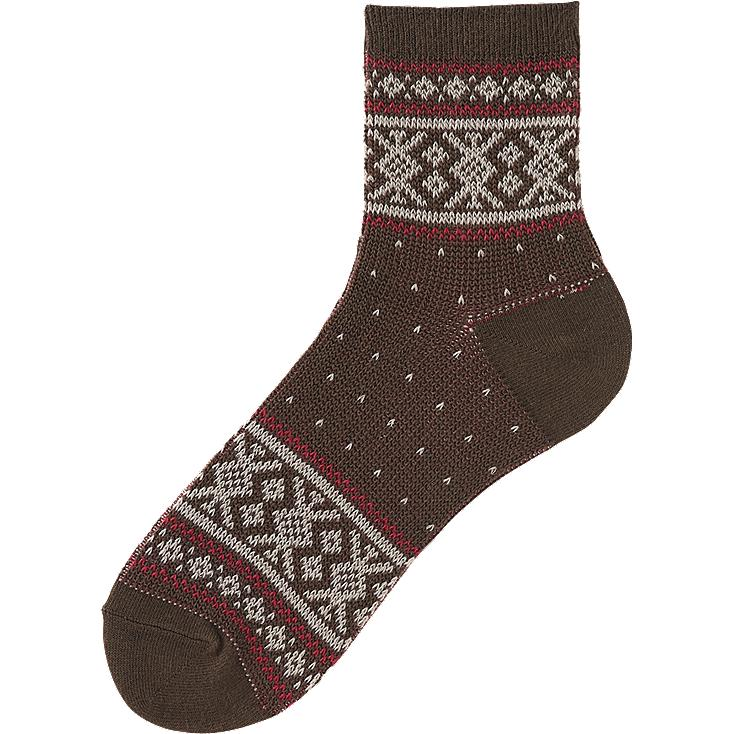Uniqlo Mens Socks Men Fair Isle Ankle Socks