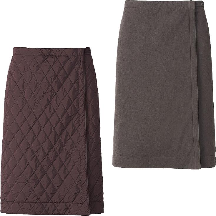 WOMEN WARM LINED LONG SKIRT