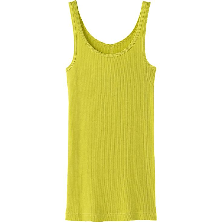 WOMEN COLOR RIB SLEEVELESS TOP