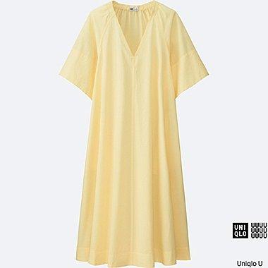 Robe en crépon de coton U FEMME