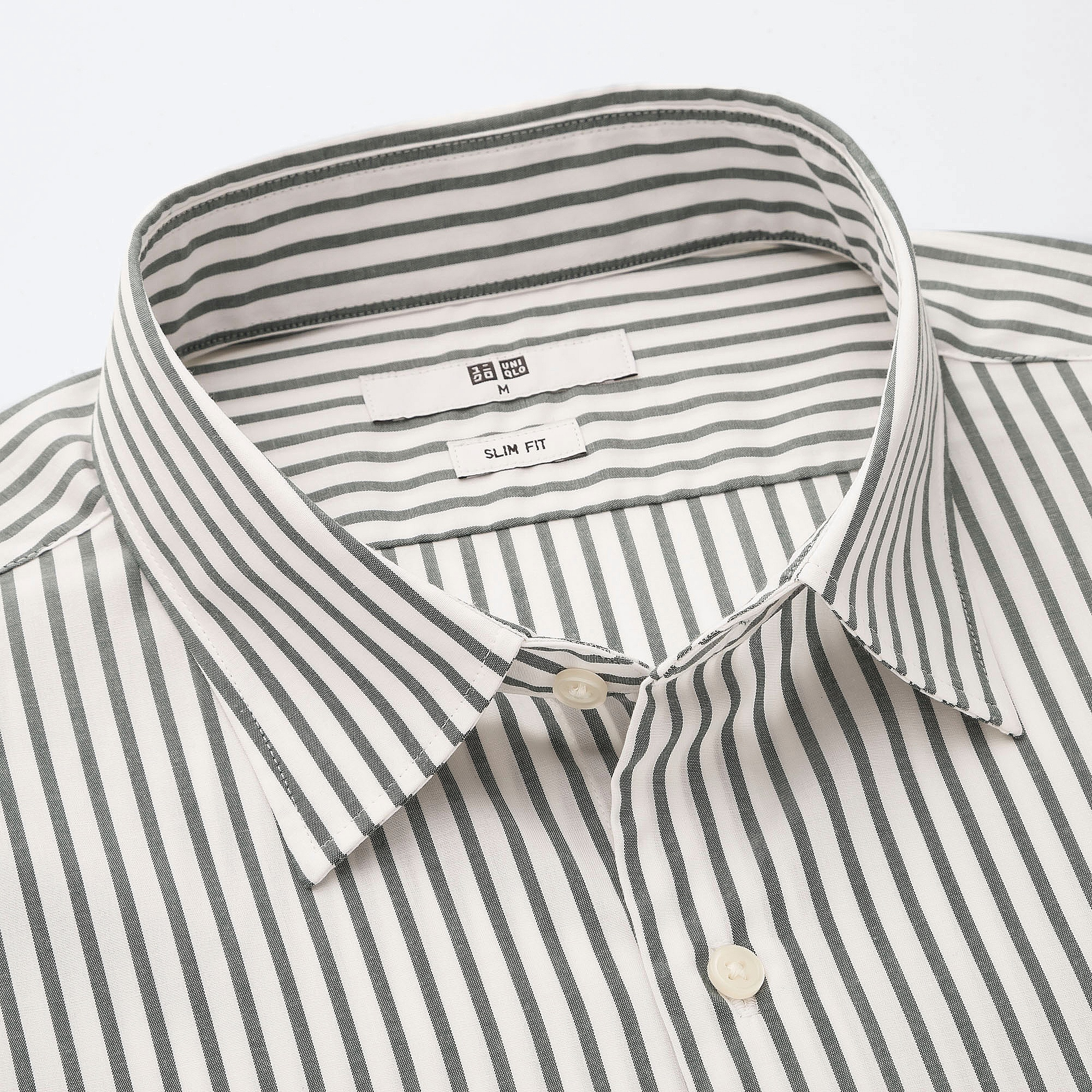 f675f8a62 Uniqlo MEN EASY CARE STRIPED STRETCH SLIM FIT LONG SLEEVE SHIRT at ...