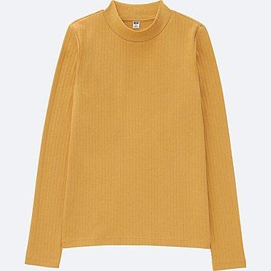 T-Shirt Côtelé Col Montant FEMME