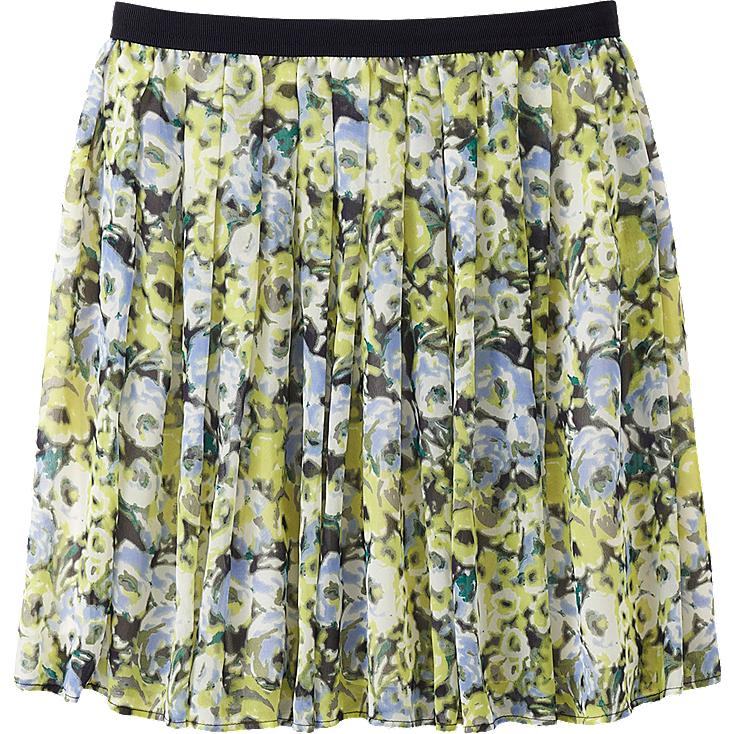 WOMEN CHIFFON PRINT MINI SKIRT