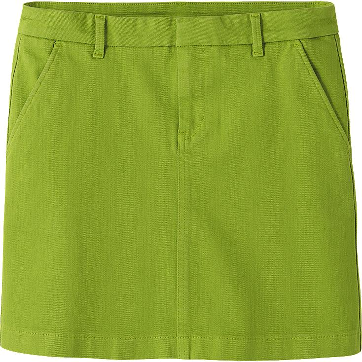 WOMEN COLOR MINI SKIRT
