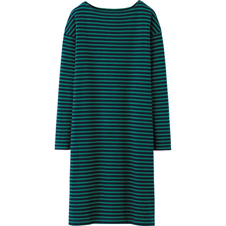 WOMEN HEATTECH LOUNGE DRESS(STRIPE) (LONG SLEEVE)