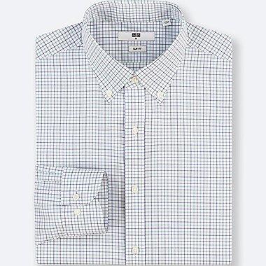 Black White Checked Dress Shirt for Men