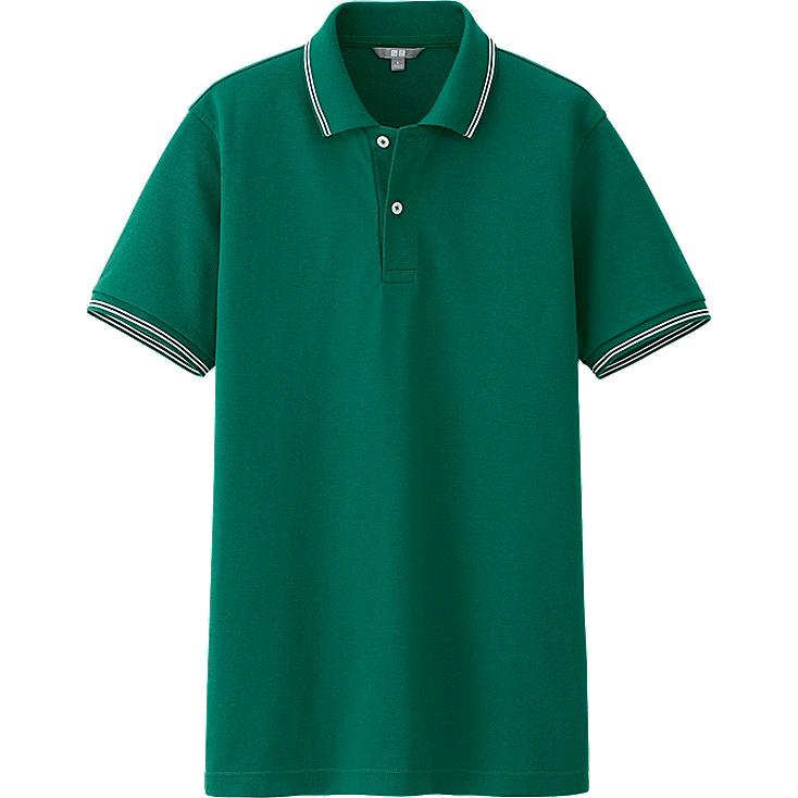 MEN DRY PIQUE LINE SHORT SLEEVE POLO SHIRT