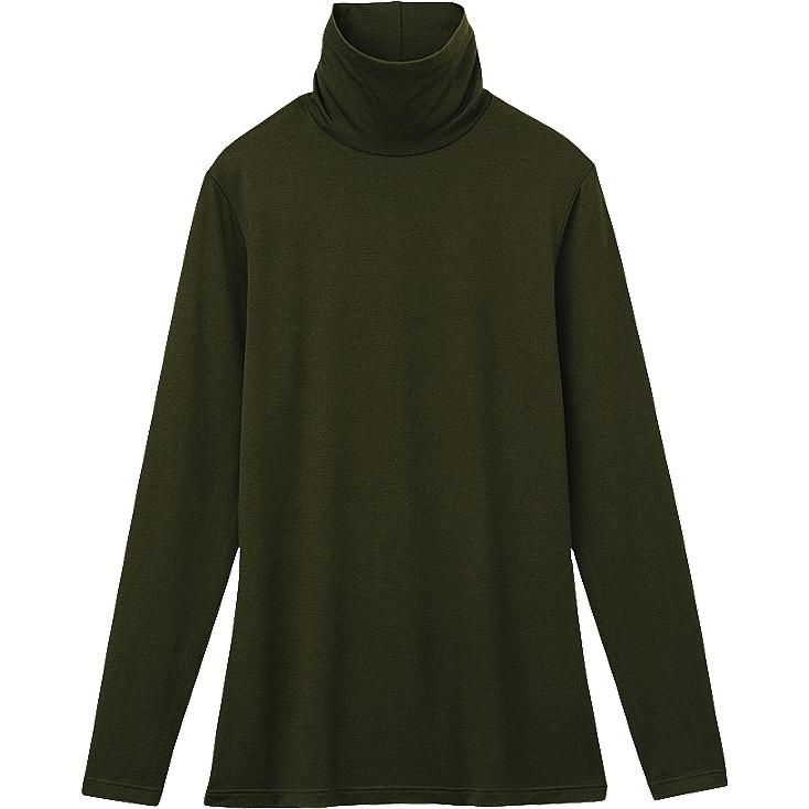 WOMEN HEATTECH TURTLE NECK T-SHIRT (LONG SLEEVE)