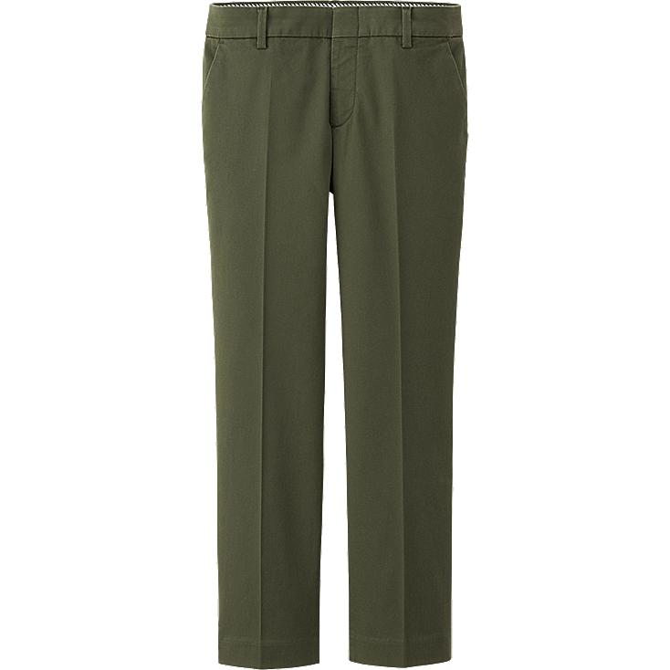 Unique WOMEN CHINO PLEATED ANKLE LENGTH PANTS  UNIQLO
