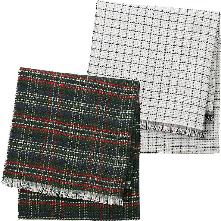 WOMEN DOUBLE FACED PLAID SCARF