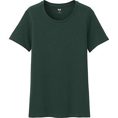 T-Shirt Col Rond En Coton Supima Manches Courtes FEMME