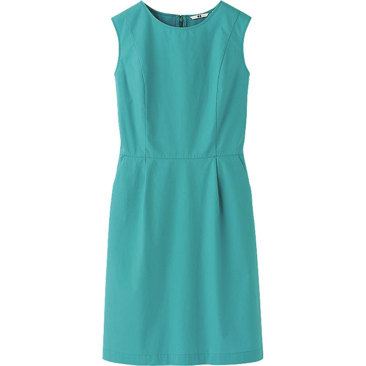 WOMEN CRISP COTTON SLEEVELESS DRESS