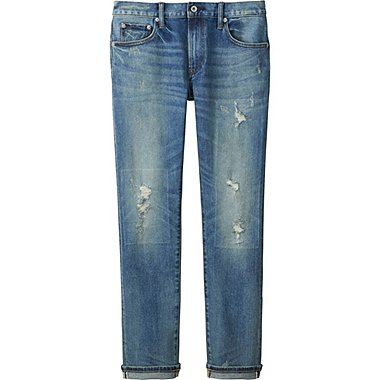 Jean Slim Fit Usé HOMME