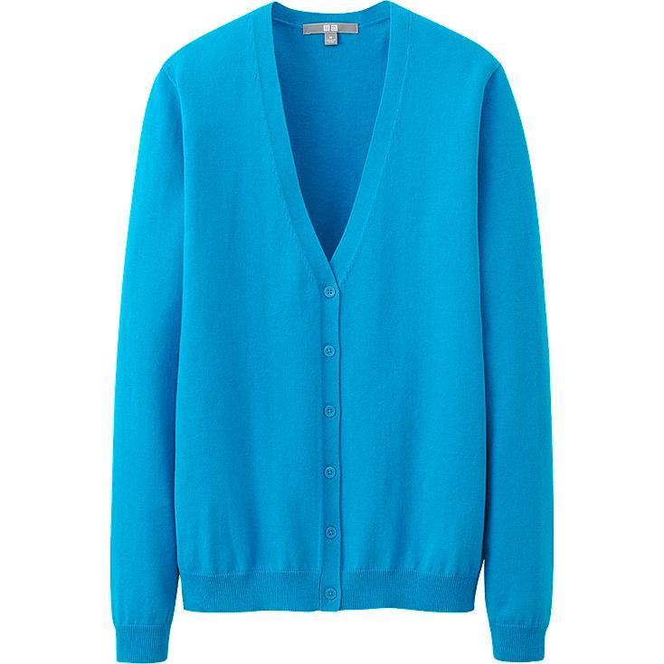 WOMEN UV CUT V NECK CARDIGAN