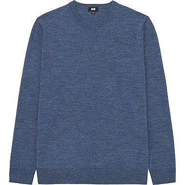 Pull Col Rond Merinos Manches Longues HOMME