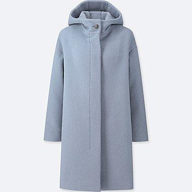 women lightweight wool blend tailored coat uniqlo us