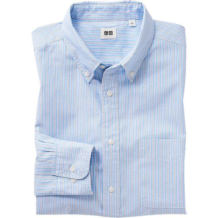 MEN OXFORD STRIPE LONG SLEEVE SHIRT