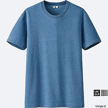 MEN Uniqlo U Short Sleeve Indigo T-Shirt