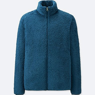a7dd5025a74 MEN FLUFFY YARN FLEECE FULL-ZIP JACKET