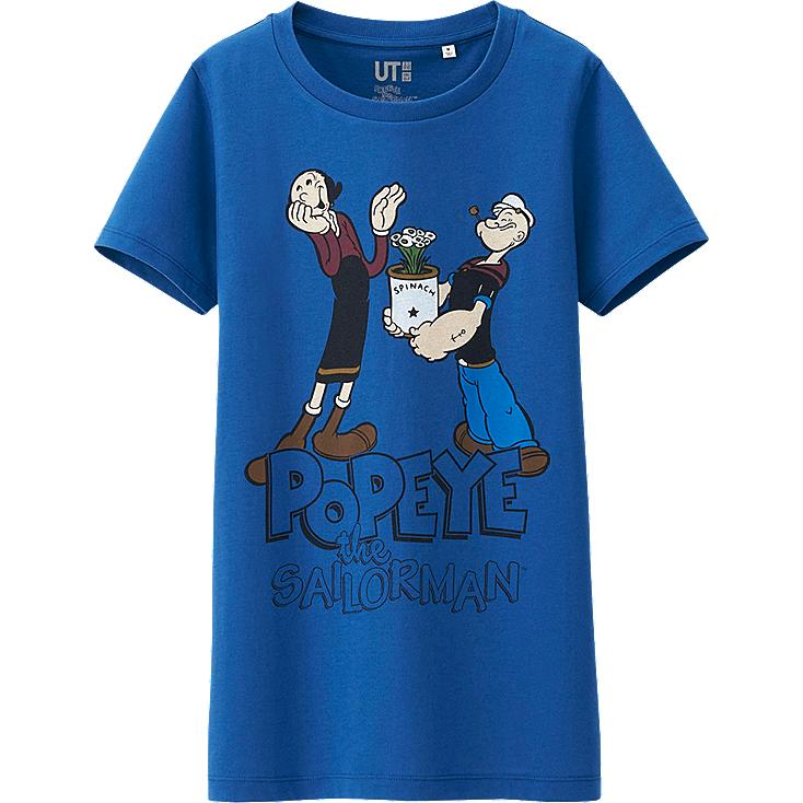 WOMEN POPEYE CREW NECK SHORT SLEEVE T-SHIRT