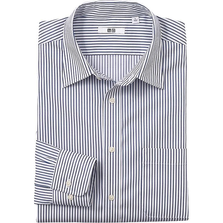 MEN EASY CARE STRIPE LONG SLEEVE SHIRT (SIZE M)