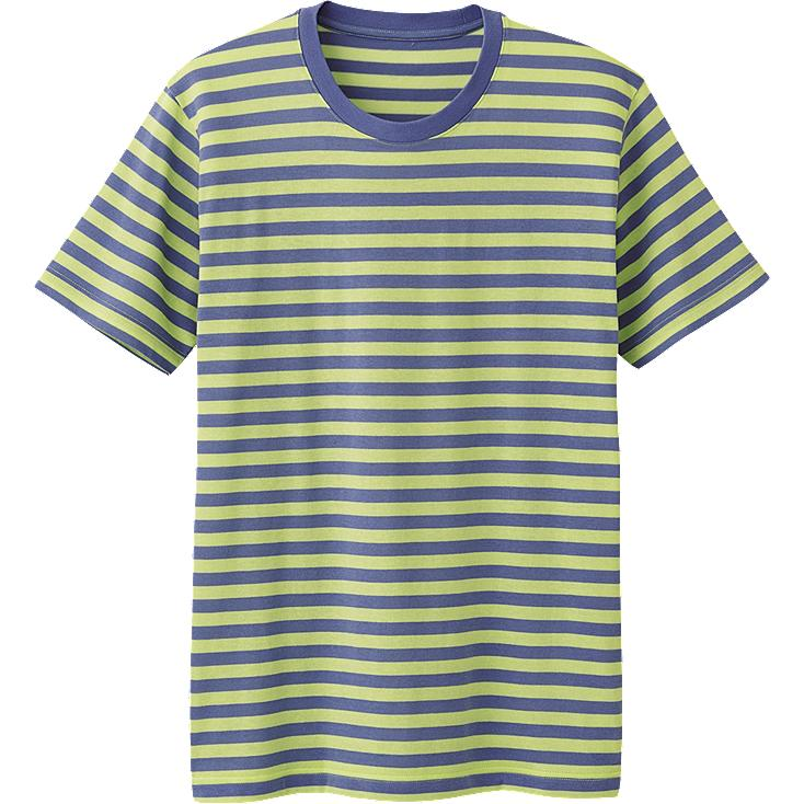 MEN DRY PACKAGED STRIPED CREW NECK SHORT SLEEVE T-SHIRT