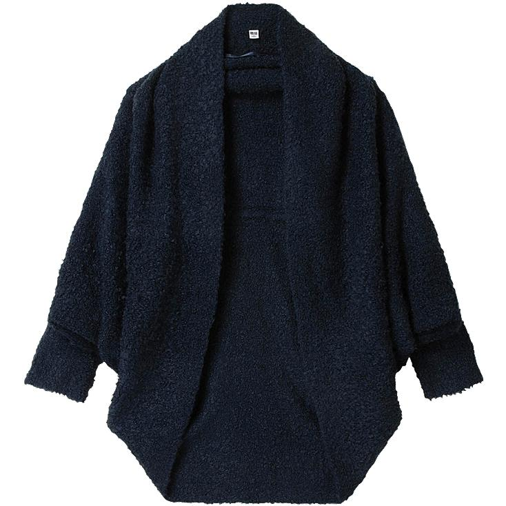 WOMEN BOUCLE KNIT COAT
