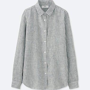 DAMEN Hemdbluse aus Premiumleinen