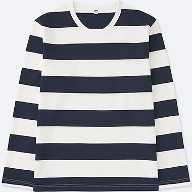 T-Shirt Rayé Manches Longues HOMME