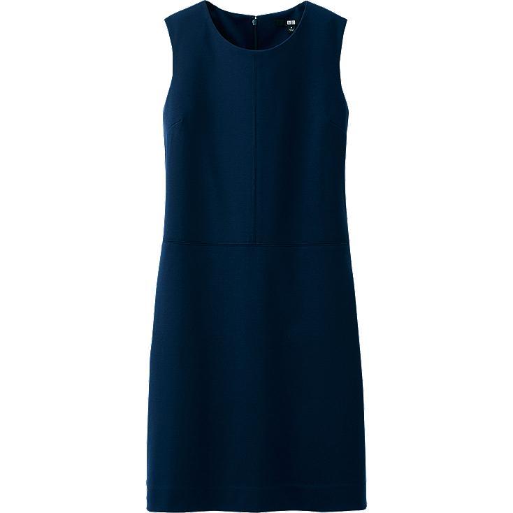 Popular Uniqlo Ponte Short Sleeve Dress In Blue NAVY  Lyst