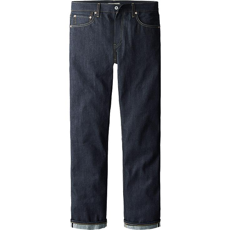 MEN REGULAR FIT STRAIGHT JEANS (SELVEDGE)