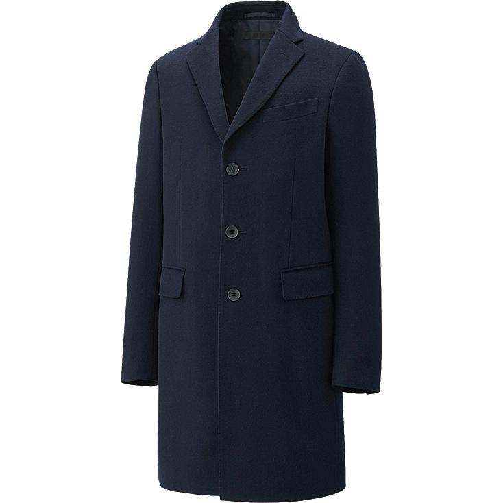 MEN WOOL CASHMERE CHESTERFIELD COAT