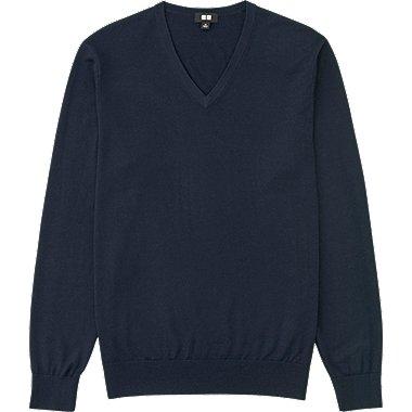 MEN Extra Fine Merino V Neck Sweater