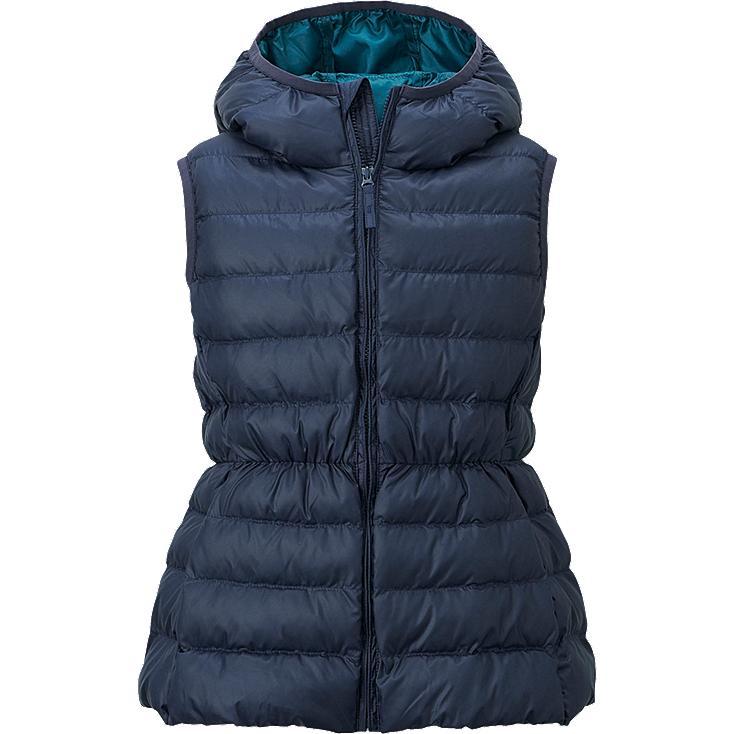 veste warm padded sans manche fille uniqlo. Black Bedroom Furniture Sets. Home Design Ideas