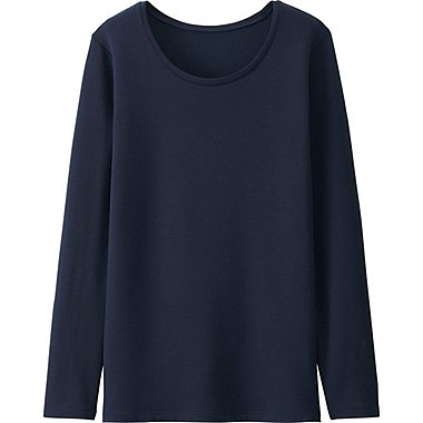HEATTECH Extra Warm T-Shirt Col Rond FEMME