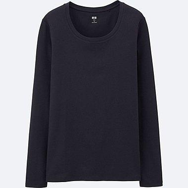 T-Shirt Col Rond En Coton Supima Manches Longues FEMME