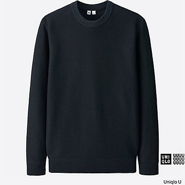 Pull col rond en coton SUPIMA manches longues U HOMME