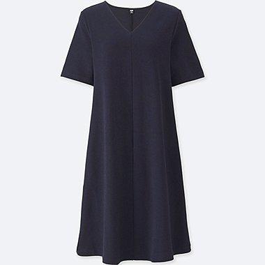 Robe Évasée Col V  FEMME
